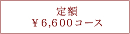 定額6600円コース